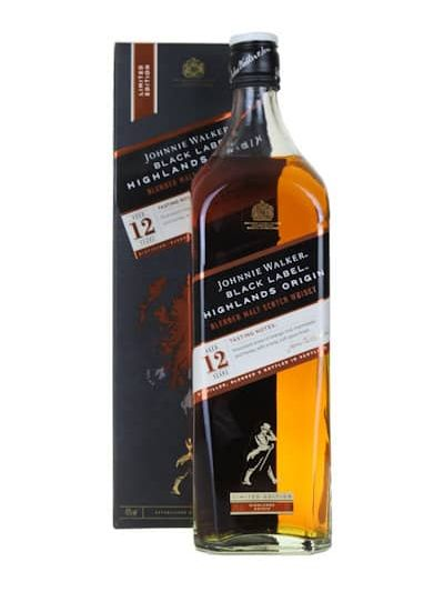 Johnnie Walker 12 Black Label Highlands Origin