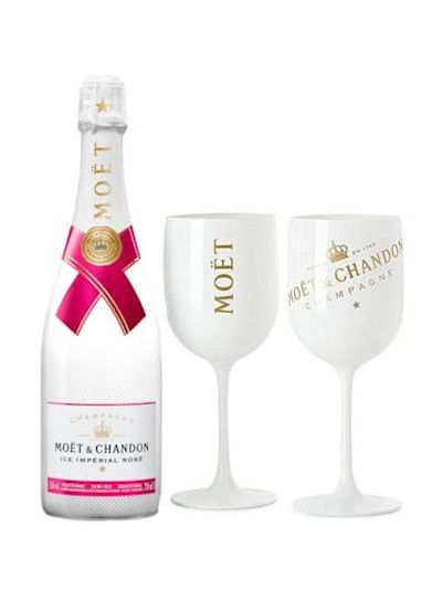 Moet & Chandon Imperial ICE Rosé + 2 glazen