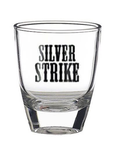 Silver Strike shot glas
