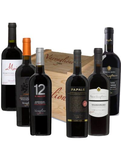 Varvaglione Primitivo Cadeaukist met 6 flessen